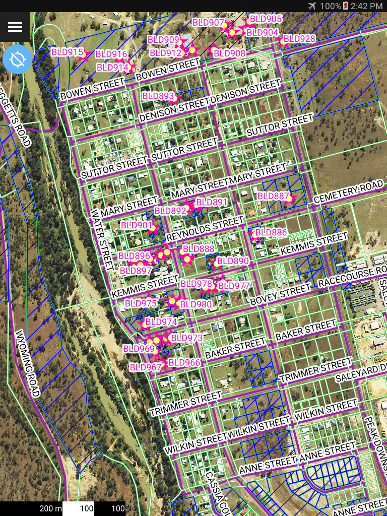 AGIS Buildings assessed shown in context